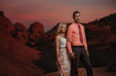 red rock engagement session las vegas